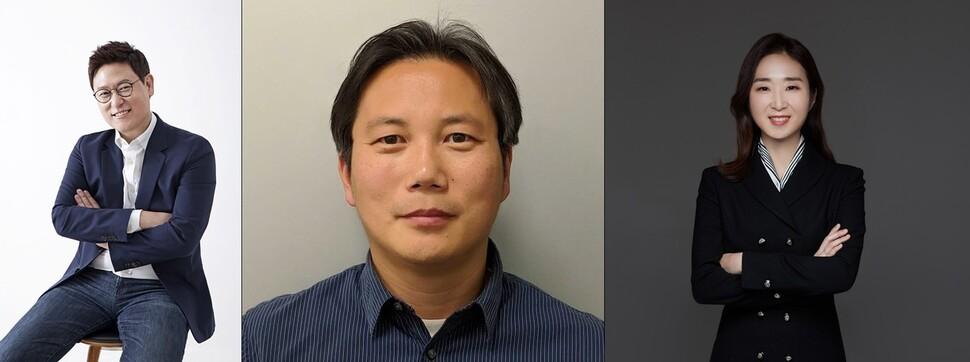 왼쪽부터 데니스 홍 UCAL 교수, 한보형 서울대 교수, 배순민 AI2XL연구소장. KT 제공
