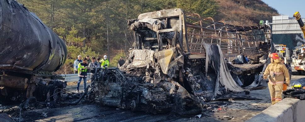 고속도로서 '블랙 아이스' 사고…연쇄 추돌로 7명 사망