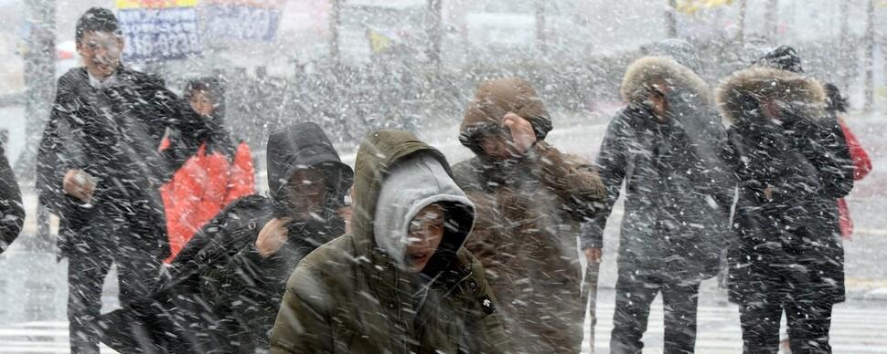 '방심금물, 아직 겨울'…내일 대설, 모레 체감온도 -20도
