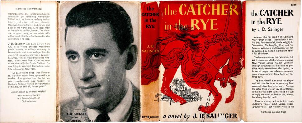 1951년판 <호밀밭의 파수꾼>의 표지 전체를 펼친 모습. 출처 위키피디아