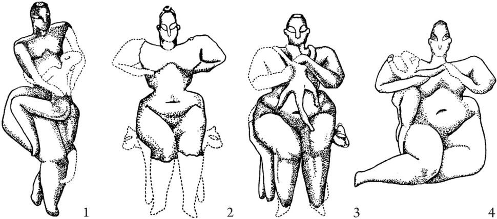 풍만한 신체의 소형 여성 조각상, 하즐라르, 터키. 글항아리 제공