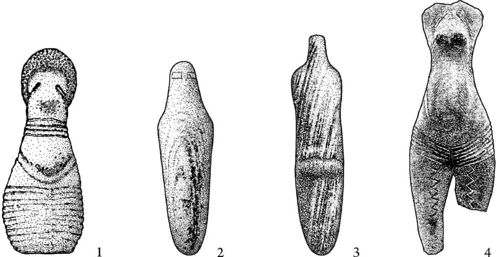 하르툼 신석기 무덤에서 출토된 소형 조각상, 수단 북부. 글항아리 제공
