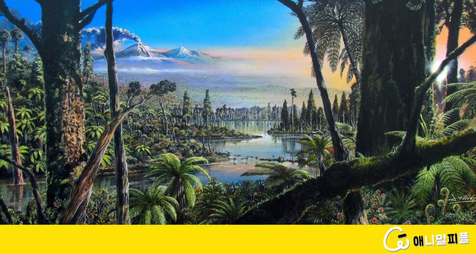 온실가스 4배, 공룡시대 남극은 얼음 없는 울창한 숲