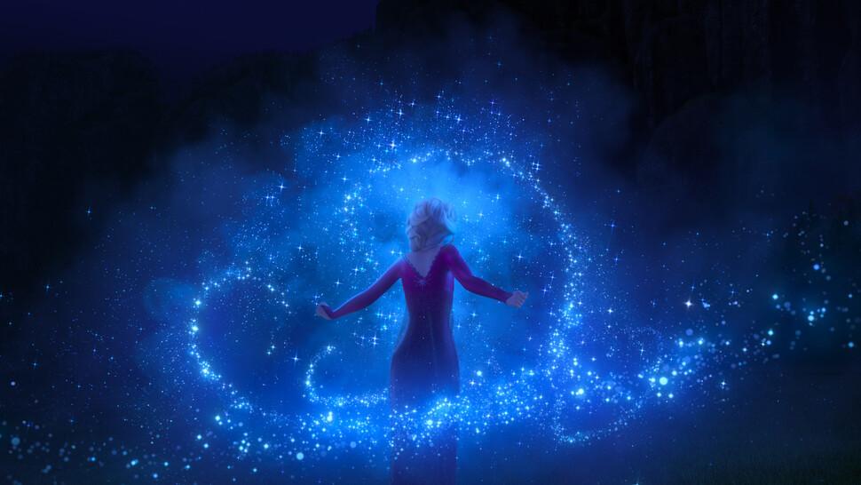 천만 관객을 넘긴 디즈니 애니메이션 <겨울왕국 2> 한 장면. 월트디즈니컴퍼니코리아 제공