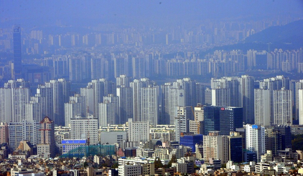 서울의 아파트 단지. 청와대사진기자단
