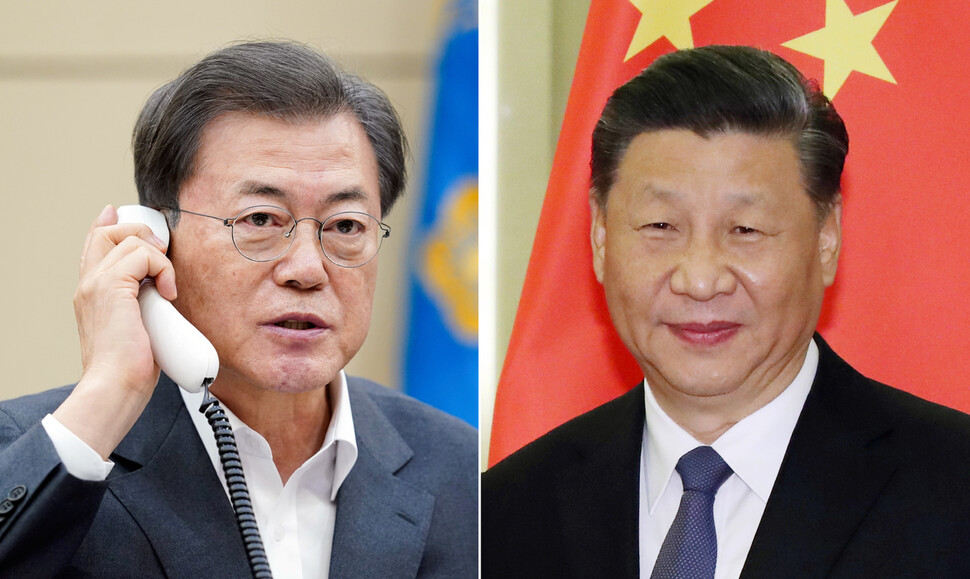 """문 대통령, 시진핑과 통화 """"코로나19 임상치료 경험 공유"""""""