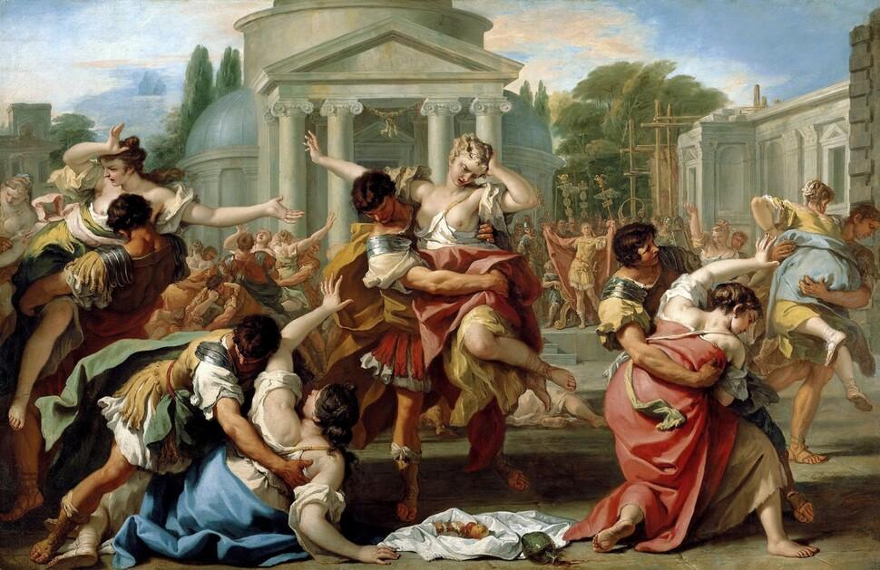 세바스티아노 리치, <사비니 여인의 납치>, 1702~1703, 캔버스에 유채, 리히텐슈타인 왕실 컬렉션