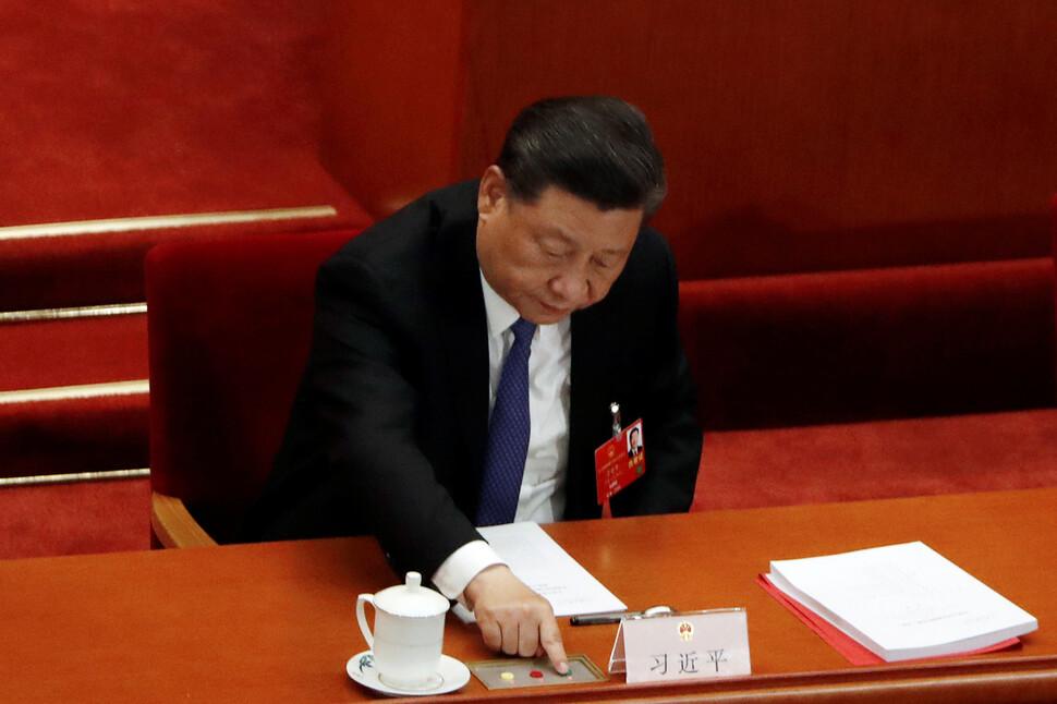 중국 전인대 '홍콩판 국보법' 초안 반대 1표 '압도적 통과'