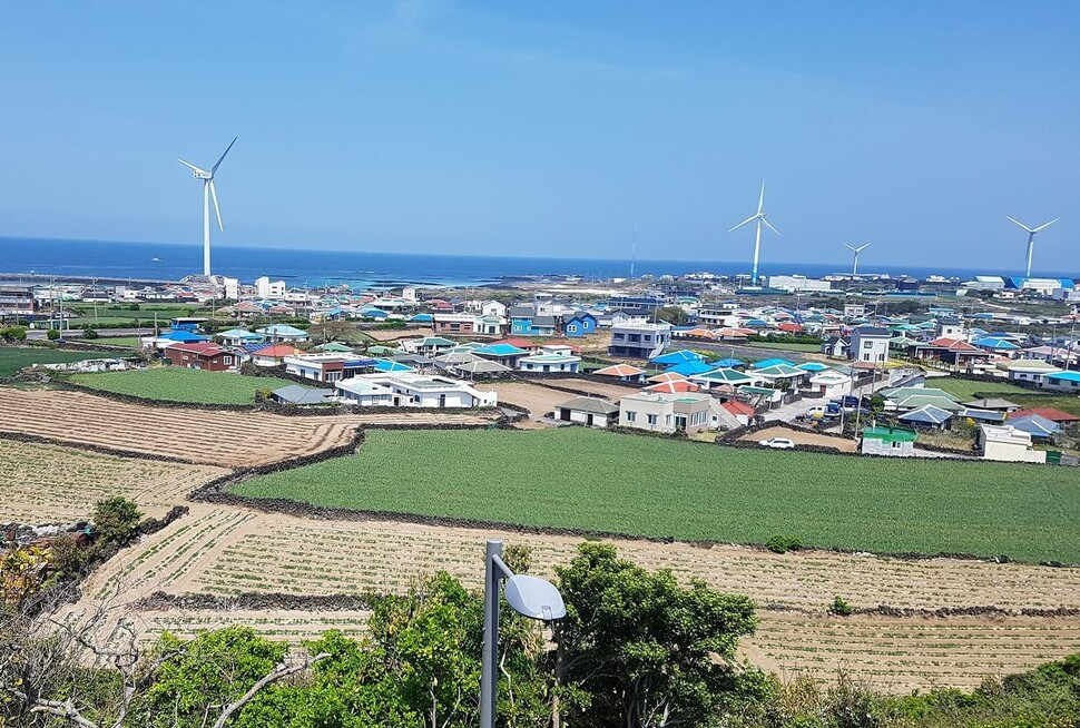 제주 행원리에서는 풍력발전 수익 일부를 주민들에게 배당하고 있다. 김자경 제주대 교수 제공