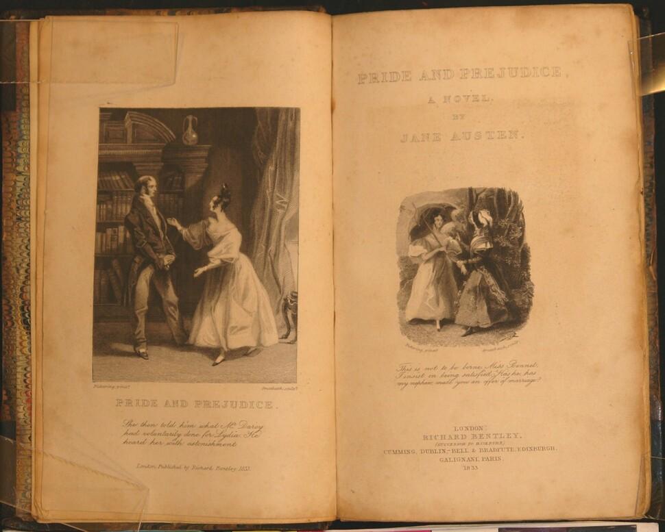 1813년 첫 출간된 제인 오스틴 <오만과 편견>의 1833년 출판본에 수록된 삽화. 그린비 제공