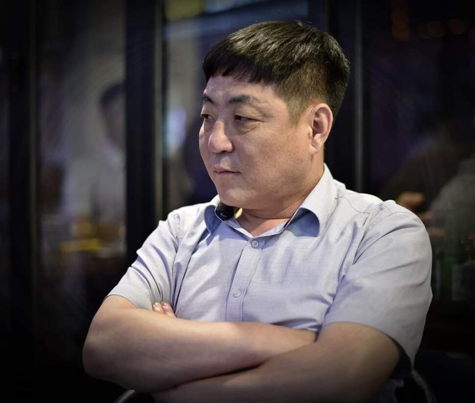 전 북한 국경경비대 초소장 출신의 탈북민 홍강철씨. 홍강철씨 제공