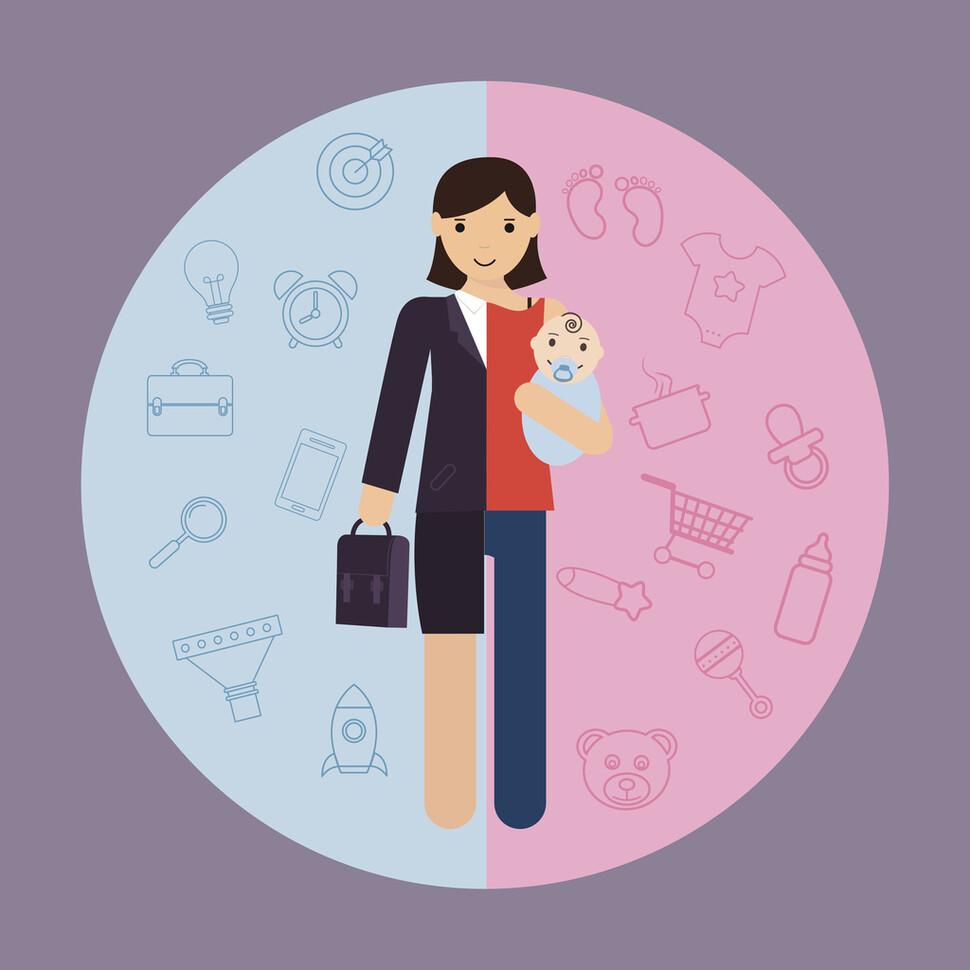 육아휴직을 사용한 여성 10명 가운데 6명이 사용 후 직장에 복귀하지 못하는 것으로 나타났다. 게티이미지뱅크