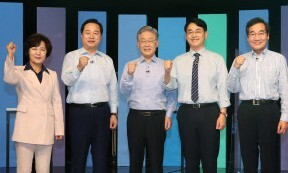 추석 앞, 민주당 경선후보 토론