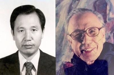고 황진현 화가의 경제기획원 경제협력국장 시절(왼쪽)과 최근의 모습(오른쪽). 향년 92. 유족 제공