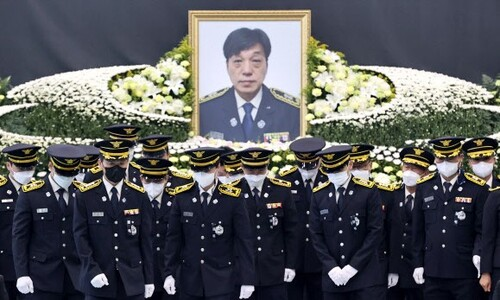 김동식 대장과 동료들 마지막 인사