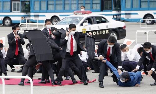 올림픽 앞두고 일본은 보안 훈련중