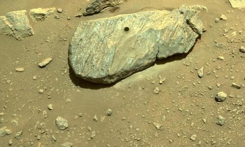 """""""아름답고 완벽""""…지구 가져올 첫 '화성의 돌' 수집 성공"""