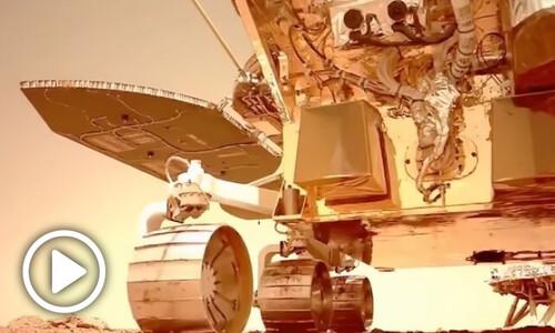 중국, 화성 땅 누비는 탐사차 '주룽' 동영상 첫 공개