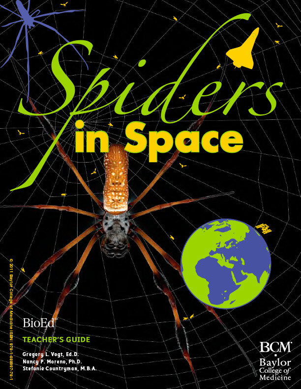 NASA is using and using educational materials for science teachers about spiders trapping in outer space.  (Noori House: https://www.bioedonline.org/lessons-and-more/teacher-guides/spiders-in-space/)