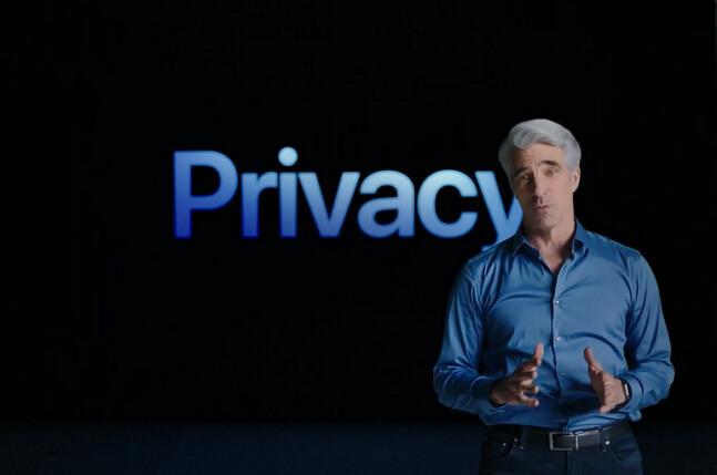크레이그 페더리기 애플 소프트웨어 엔지니어링 수석 부사장은 지난 7일 애플 세계개발자대회21(WWDC21)에서 애플의 프라이버시 강화 방안에 대해 발표했다. 애플 제공