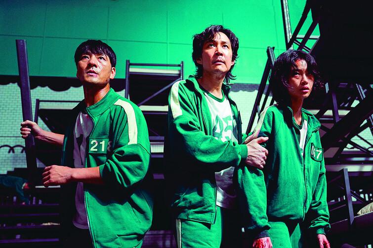 2. 주요 등장인물인 상우(박해수), 기훈(이정재), 새벽(정호연·왼쪽부터). 넷플릭스 제공