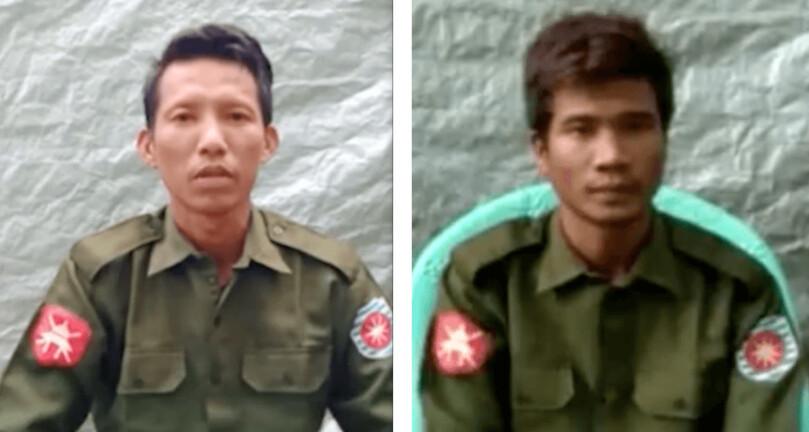 미얀마 군의 로힝 학살의 사실을 증언 한 묘 윙쯘 (왼쪽) 이병과 조 나인 툰 이병.  포티 파이 라이트 누리집 세이브