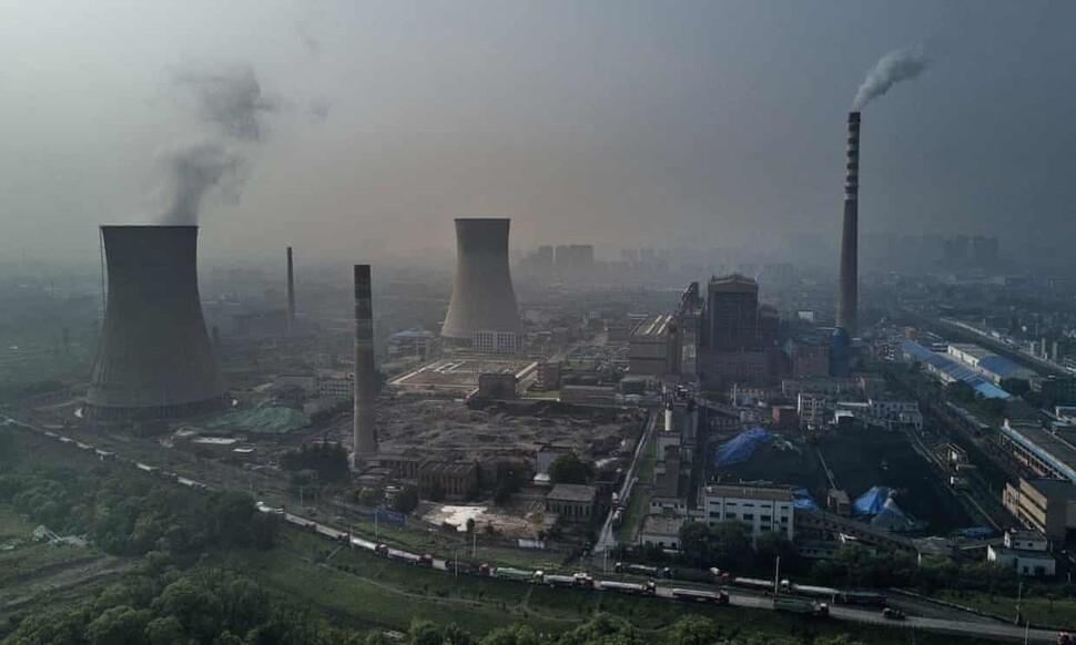 중국 안후이성 하이난에 있는 국영석탄화력발전소. 게티이미지뱅크