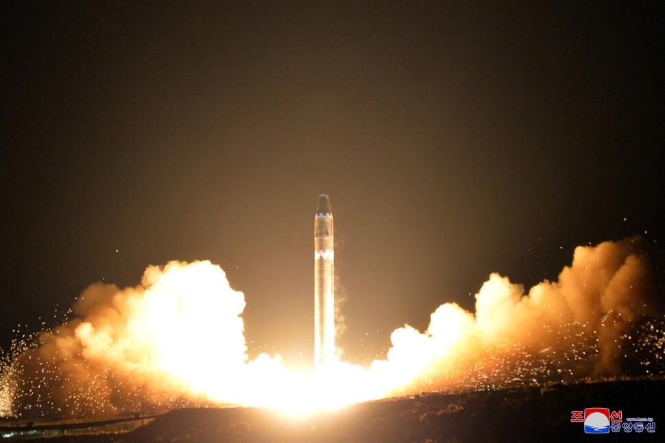 El 29 de noviembre de 2017, se lanzó el misil balístico intercontinental